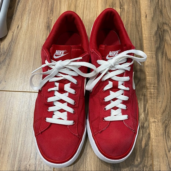 Nike Shoes | Red Canvas | Poshmark